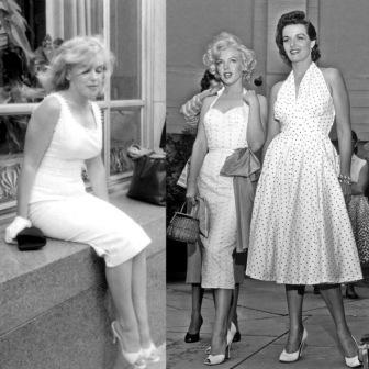 Мерилин Монро фото в белом платье