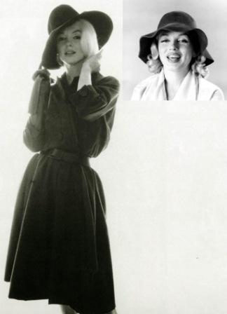 Мерилин Монро фото широкополая шляпа